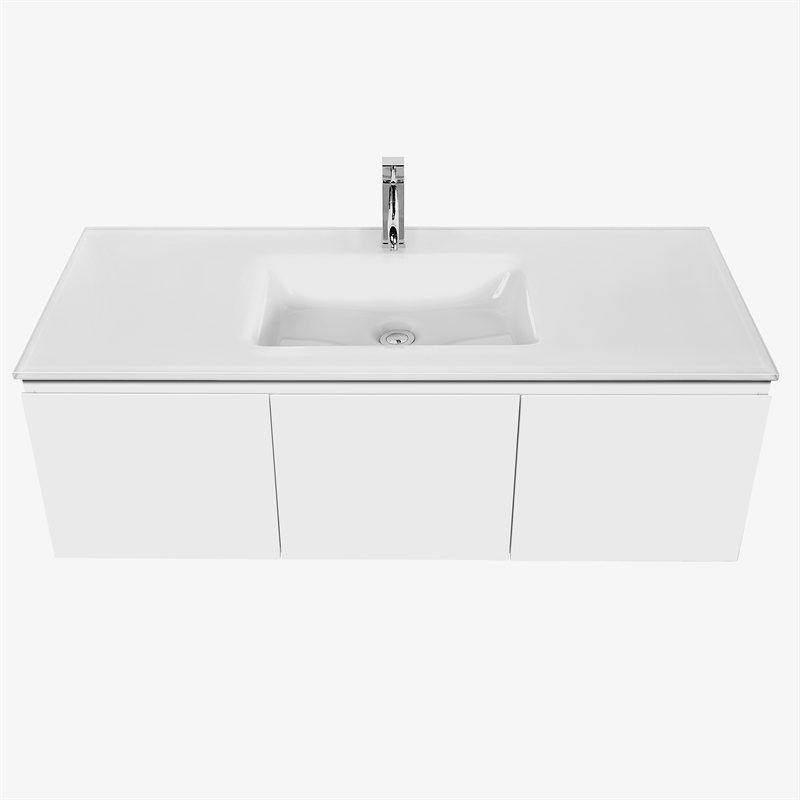 Tapware not included. Cibo Design 1200mm White Seamless Vanity   Bunnings Warehouse