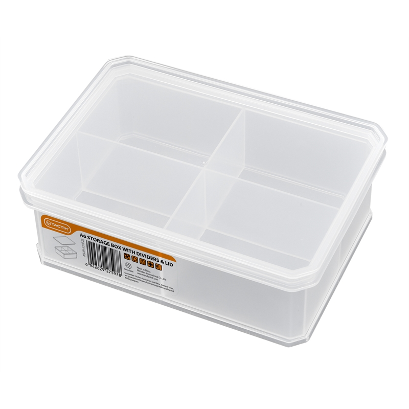 Tactix 163 x 118 x 58mm Small Storage Container with Divider