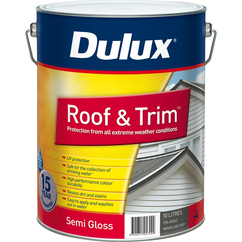 Dulux Roof amp Trim 10L Woodland Grey Exterior Paint