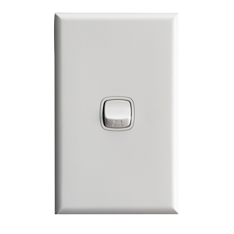 Wall Light With Switch Nz : HPM Excel 1 Gang Wall Switch Bunnings Warehouse