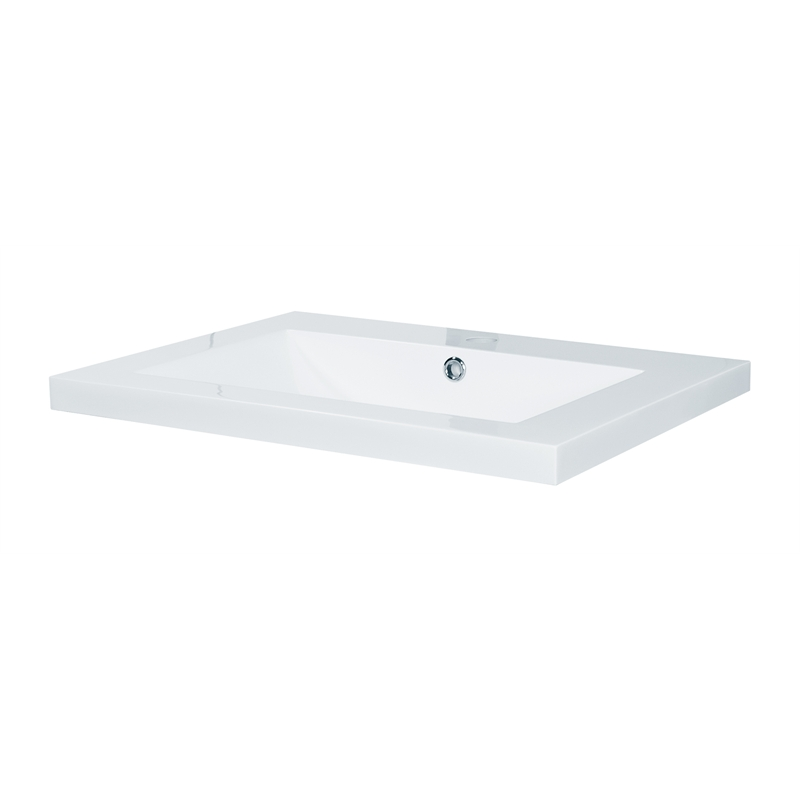 I N  4843944. Estilo 600mm Polymarble Vanity Top   Bunnings Warehouse