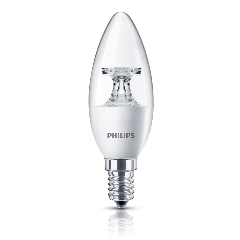 Philips 5.5W 470lm 2700k LED Candle Globe