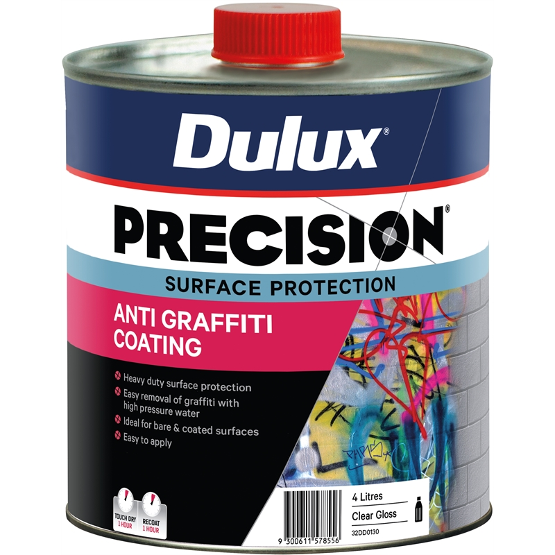 Dulux Precision Anti Graffiti 4l Bunnings Warehouse