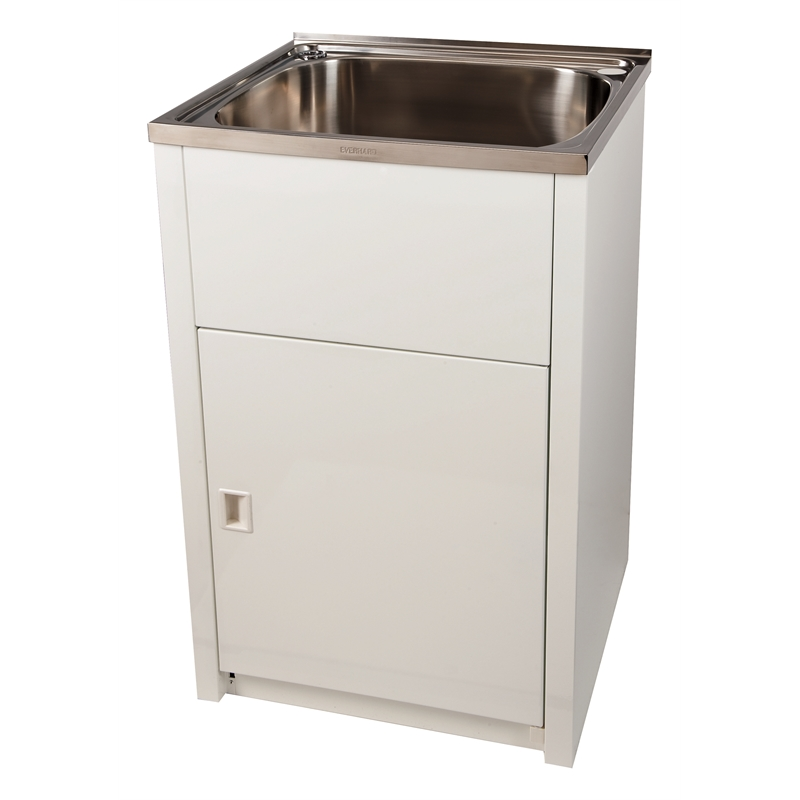 White Laundry Trough : Everhard 45L Laundry Trough and Cabinet eBay
