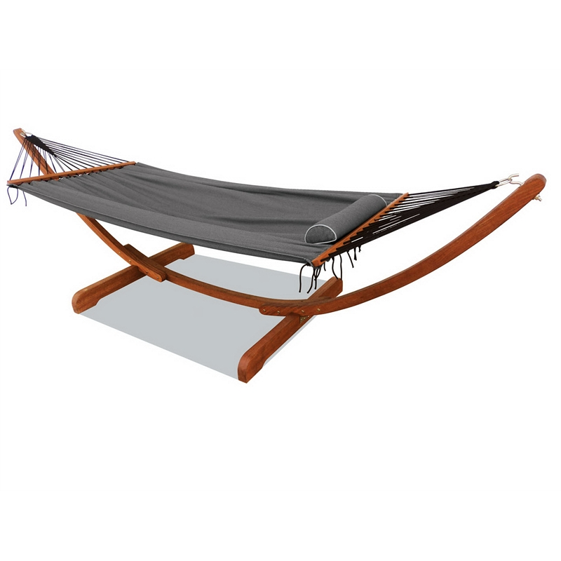 Mimosa Curved Timber Framed Hammock | Bunnings Warehouse
