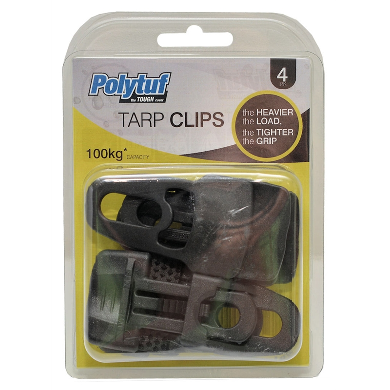 sc 1 st  Bunnings Warehouse & Polytuf Easyklip Tarp Clip - 4 Pack | Bunnings Warehouse