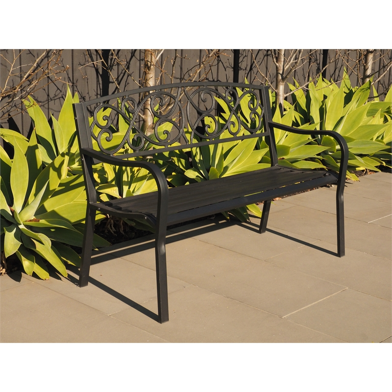 Hartman Black Cast Iron And Steel Bench Bunnings Warehouse