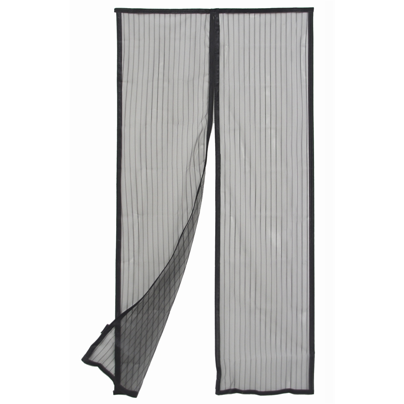 Pillar Products 120 X 200cm Black Magnetic Strip Flyscreen Door Curtain