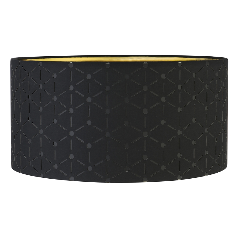 Verve Design Black And Gold Dusk Patterned Lamp Shade
