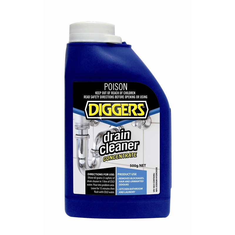 diggers 500g drain cleaner bunnings warehouse. Black Bedroom Furniture Sets. Home Design Ideas