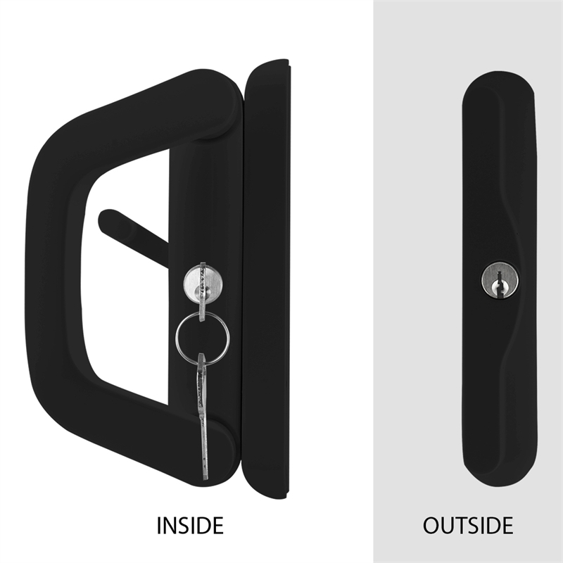 Ikonic Black Double Cylinder Keyed Sliding Door Lock | Bunnings Warehouse