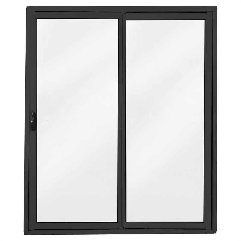 Polar Eco View 2145 X 1800 Black Double Glazed Aluminium Sliding