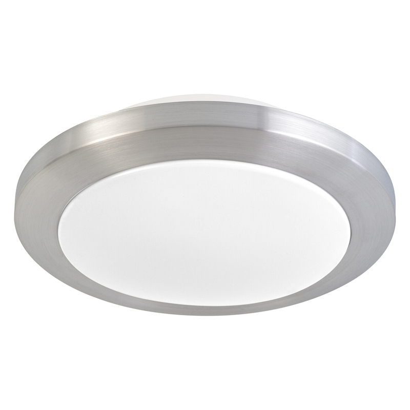 Ceiling Lights At Bunnings : Arlec cm saturn brushed chrome round ceiling light i n
