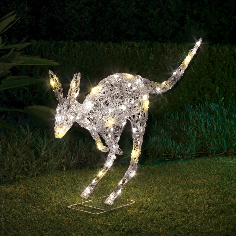 Christmas Kangaroo Lights.Lytworx 67cm 110 Led Warm White Low Voltage Kangaroo Statue