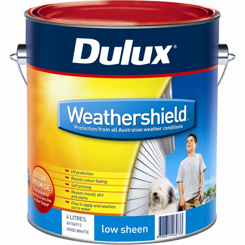 dulux weathershield 4l low sheen mission brown exterior paint. Black Bedroom Furniture Sets. Home Design Ideas