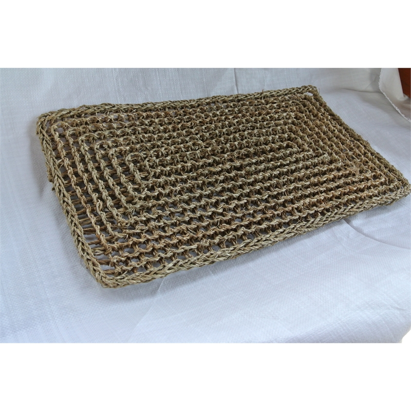 cream crochet mat mats by pure chunky pin wool articleapparel rug