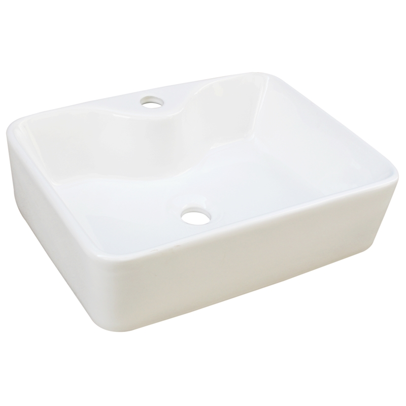 Concerto Ceramic Square Basin With 1 Tap Hole