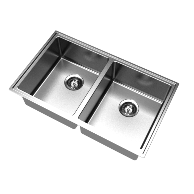 Clark 770mm Pete Evans Double Bowl Undermount Sink 0TH | Bunnings ...