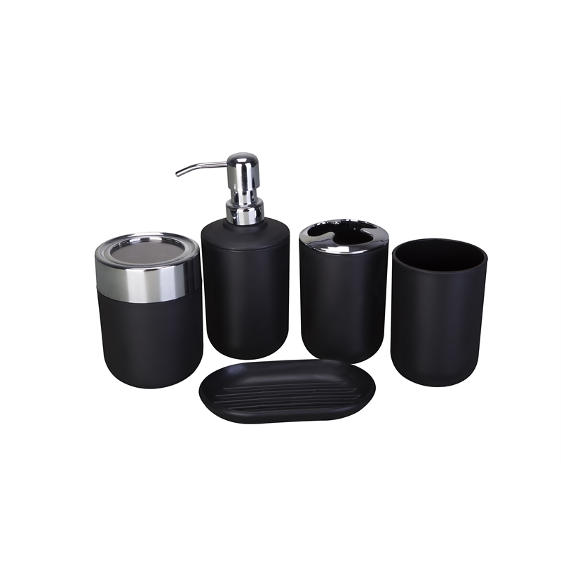 Mondella Black Bathroom 5 Piece Accessory Set | Bunnings ...