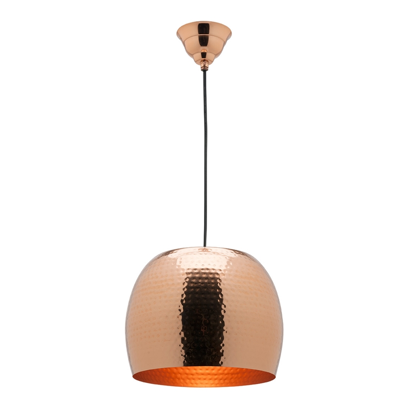Mercator 26cm 240v copper salvador light pendant bunnings warehouse aloadofball