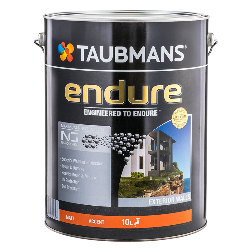 Taubmans endure 10l accent matt exterior paint bunnings warehouse - Exterior wood paint matt pict ...
