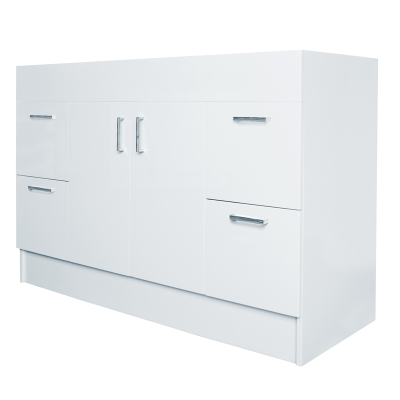 Kitchen Cabinets Bunnings Of Estilo 1200mm Allana Gloss White Freestanding Vanity