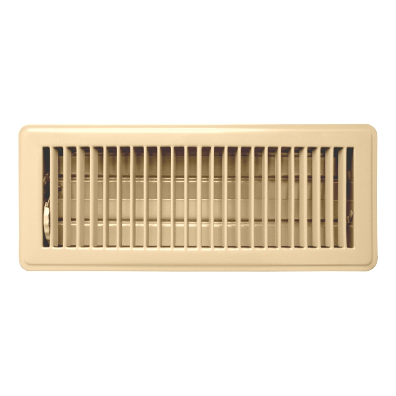 Accord 10 X 30cm Light Beige Metal Louvered Floor Vent