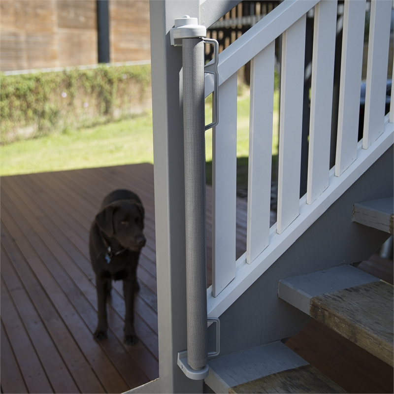 Perma Child Safety 1 8m Grey Outdoor Retractable Gate Bunnings