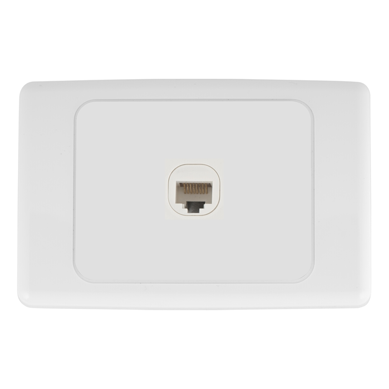 Deta Cat 6 Single Ethernet RJ45 Outlet | Bunnings Warehouse