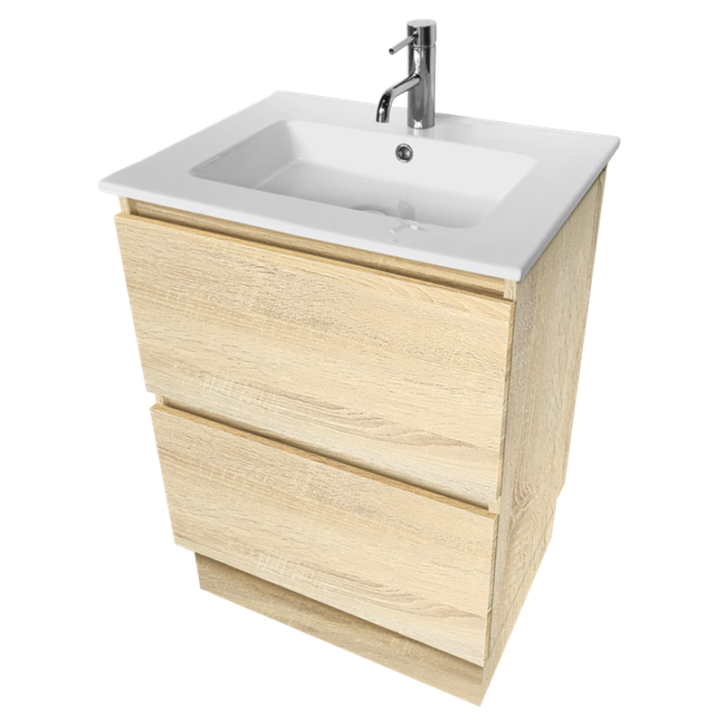 Cibo Design 600mm Coast Veneer Fresh Vanity Bunnings Warehouse