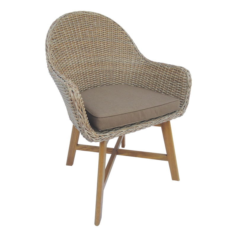 . Mimosa Timber and Resin Wicker Corsica Arm Chair   Bunnings Warehouse