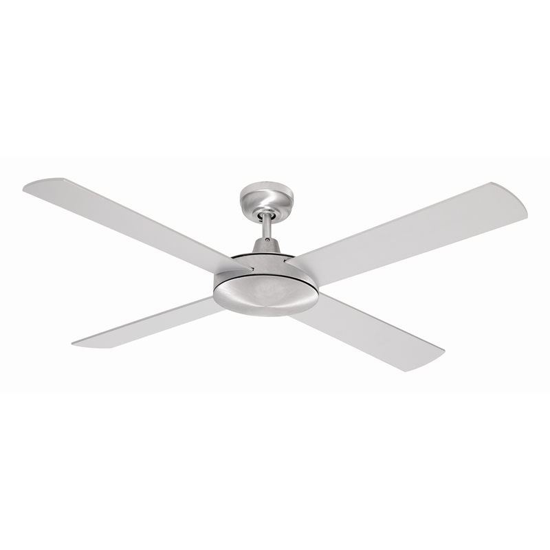 ceiling fan 4 blades. mercator 130cm brushed steel 4 blade grange ceiling fan | bunnings warehouse blades
