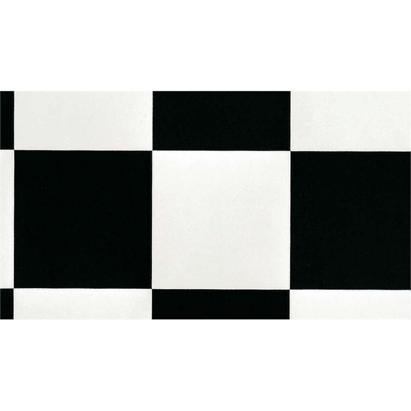 Senso essential 3m wide damier black and white sheet vinyl for Black and white linoleum sheet flooring