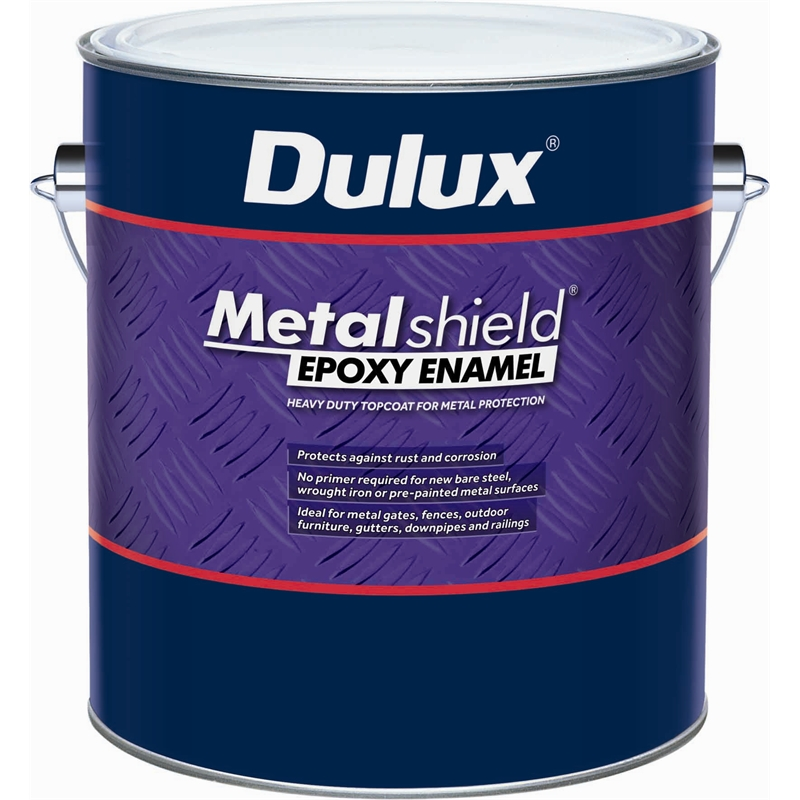 Dulux metalshield 1l gloss black topcoat epoxy enamel paint - Dulux exterior gloss paint style ...