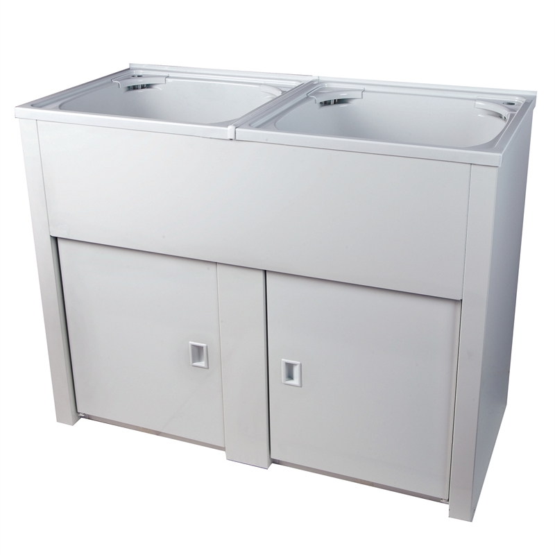 Laundry Basin Bunnings : ... 90L Dual Laundry Trough and Cabinet I/N 5148188 Bunnings Warehouse