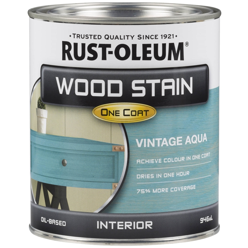 Rust Oleum 946ml Vintage Aqua Wood Stain Bunnings Warehouse