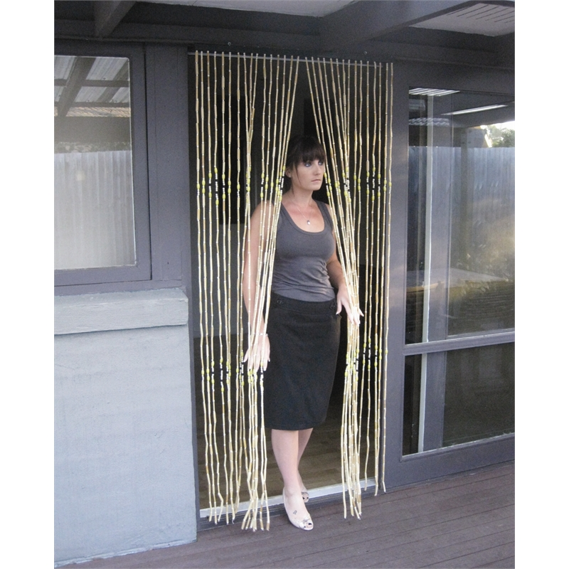 Zone Hardware 900 X 2050mm Bamboo Door Curtain Bunnings