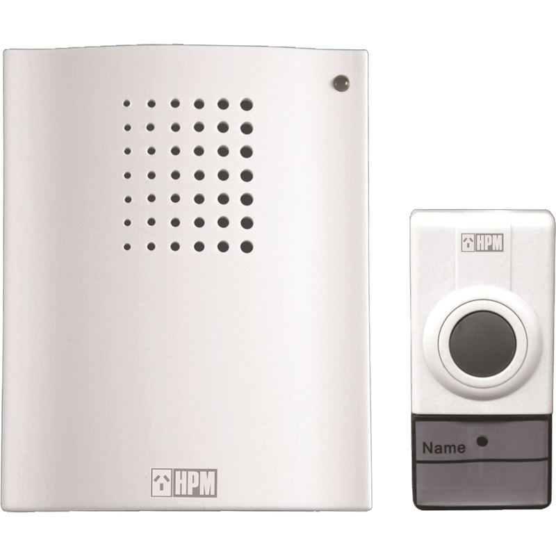 HPM Battery Operated Wireless Door Chime  sc 1 st  Bunnings Warehouse : wireless door - pezcame.com