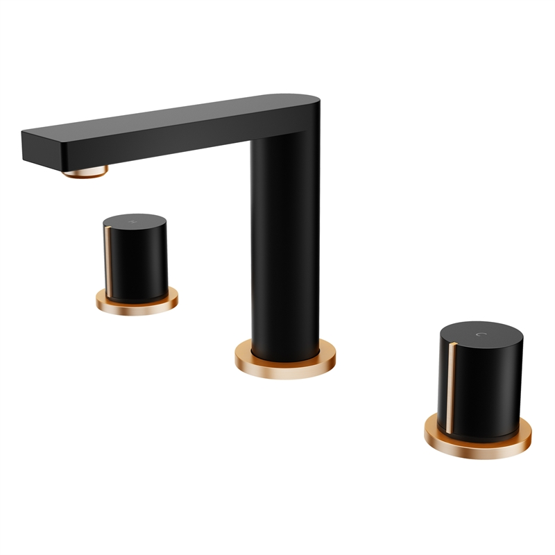 Signature WELS 4 Star 7.5L/min Matte Black And Rose Gold Basin Set