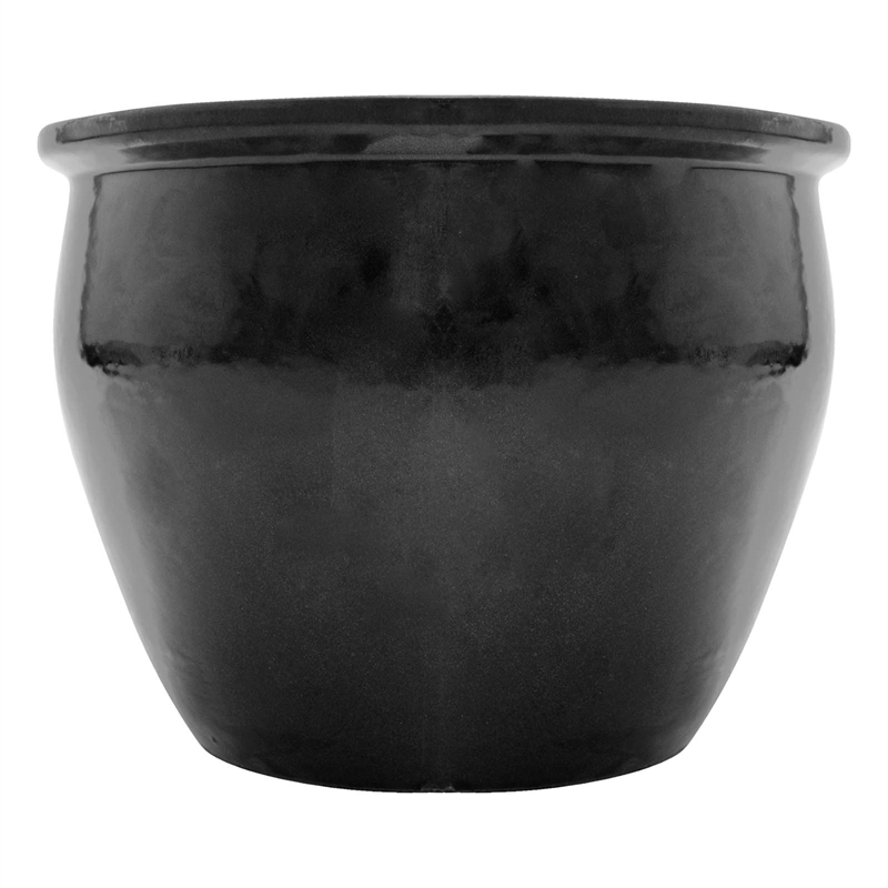 northcote pottery 28 x 25cm black primo jardin planter. Black Bedroom Furniture Sets. Home Design Ideas