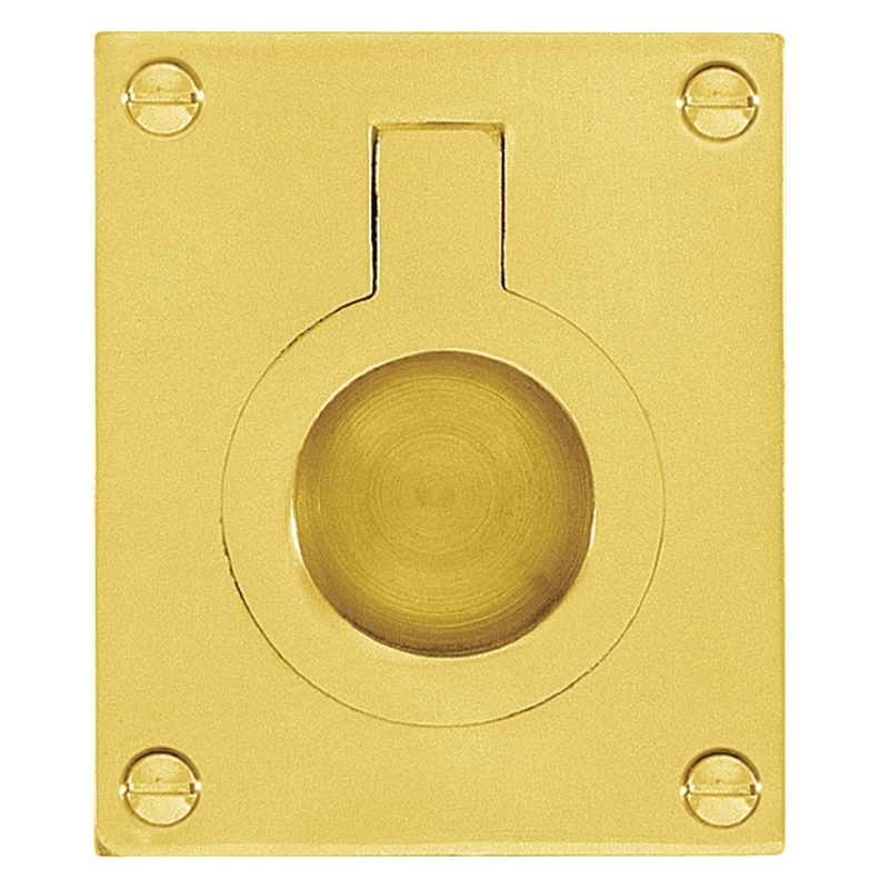Delf 37mm X 50mm Polished Brass Flush Ring Pull Bunnings