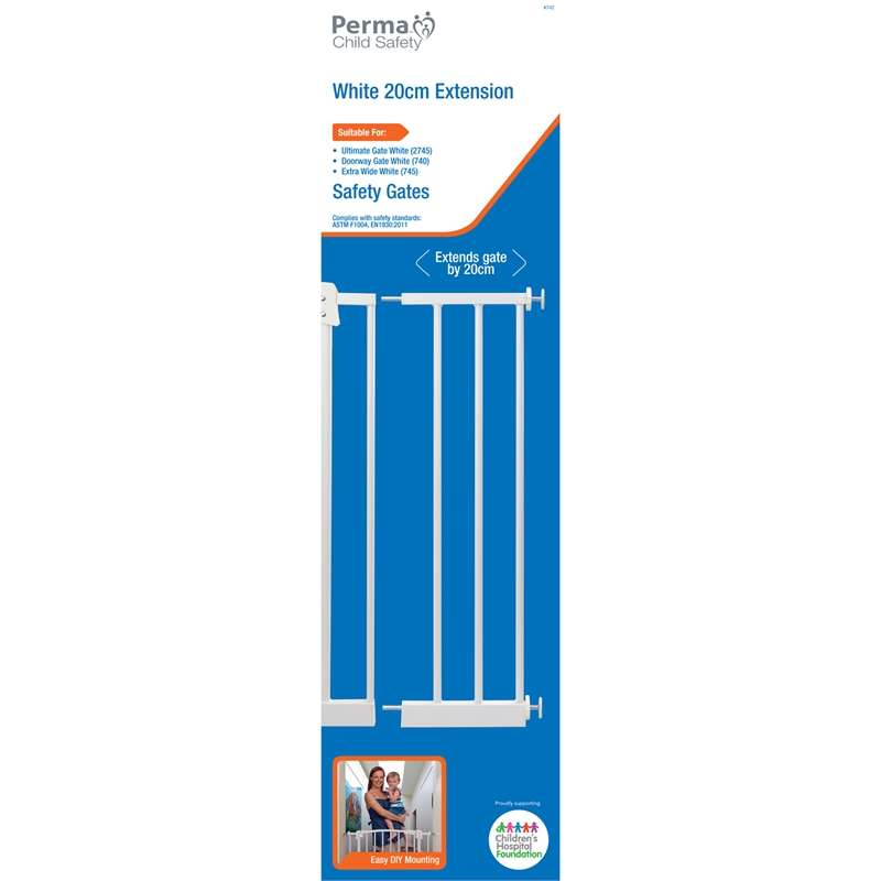 Perma Child Safety 20cm White Gate Extension Bunnings Warehouse