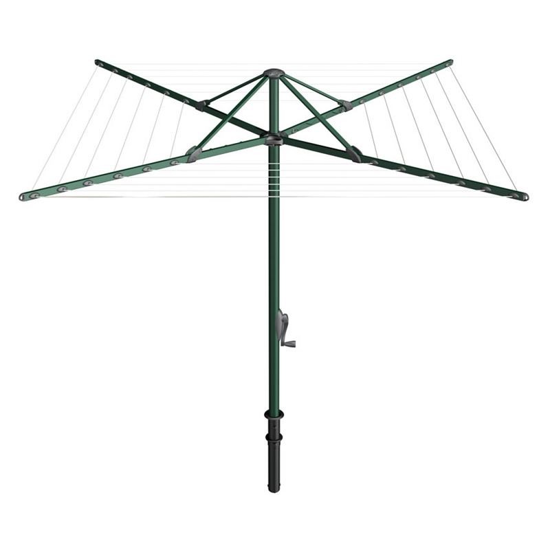 32m 6 Line Evergreen Rotary Clothesline