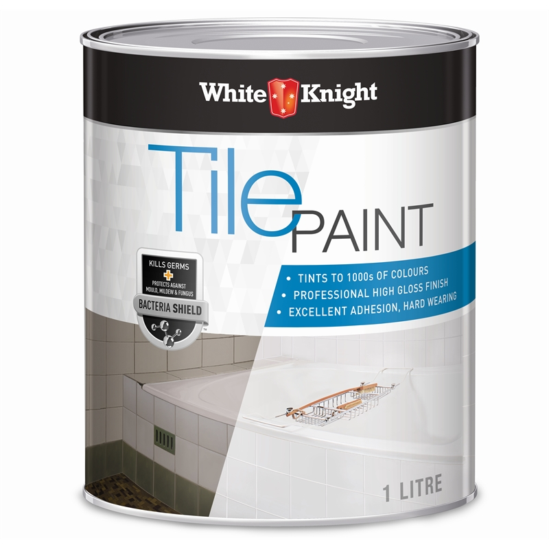 White Knight 1L Neutral Tile Paint Bunnings Warehouse