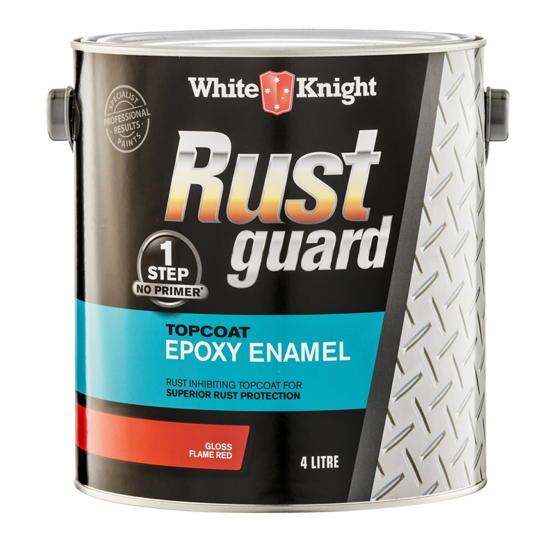 White Knight 4l Rust Guard Flame Red Epoxy Enamel Paint