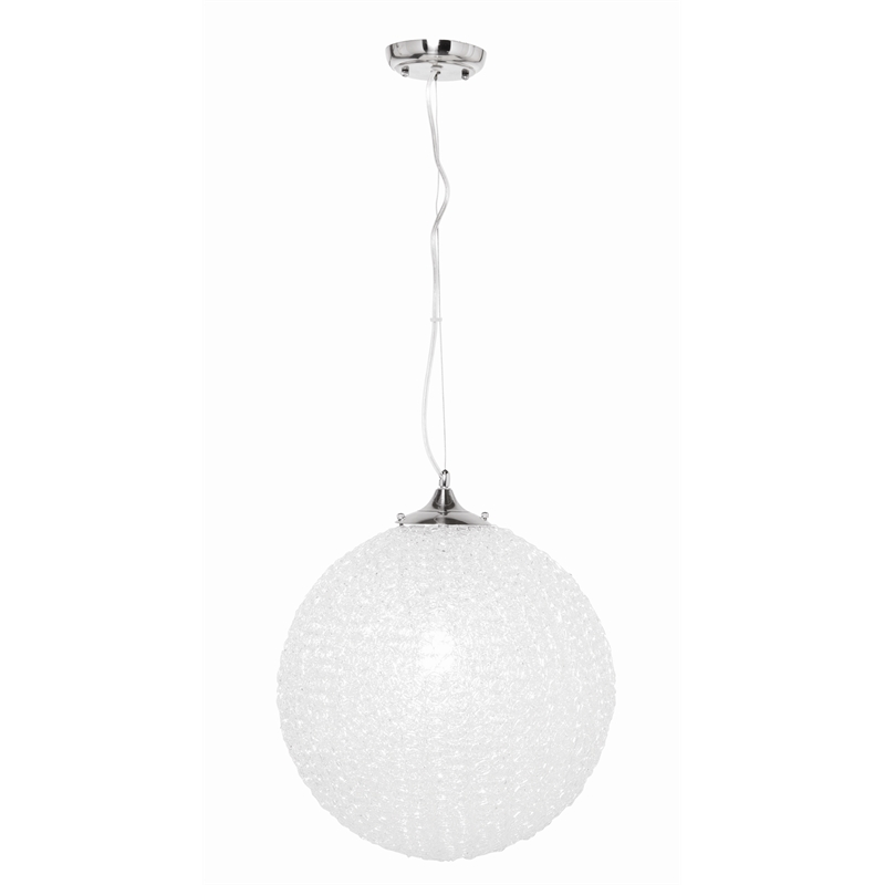 Brilliant 60W Amelie 400mm Acrylic Ball Pendant Light | Bunnings Warehouse