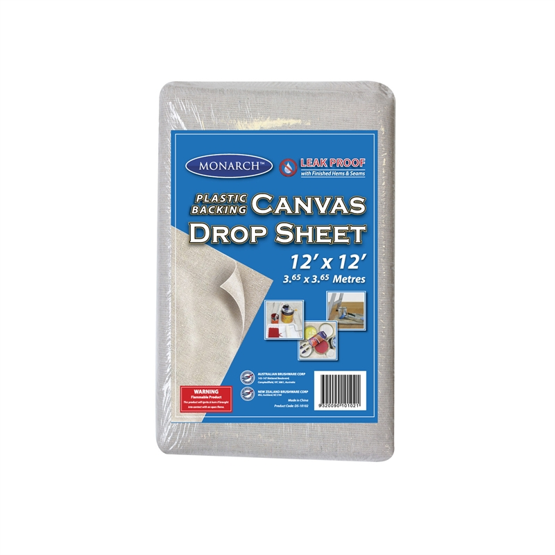 Monarch 3 6 X 3 6m Plastic Backed Canvas Drop Sheet
