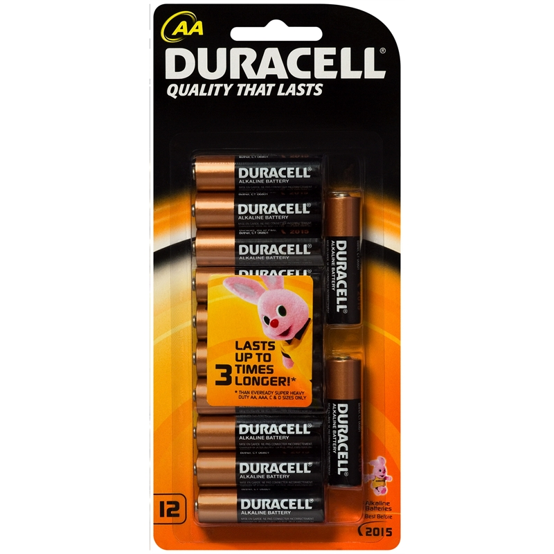 Duracell AA Alkaline Batteries - 12 Pack