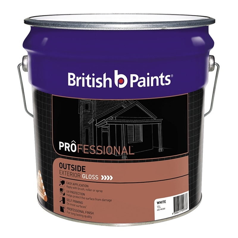 British paints professional 15l white exterior gloss paint i n 1420472 bunnings warehouse - Exterior white gloss paint image ...