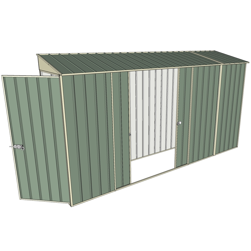 Build a shed 0 8 x 3 7 x skillion double sliding side for 12x8 shed with side door
